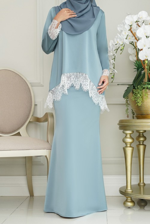 Jintan Kurung in Sky Blue
