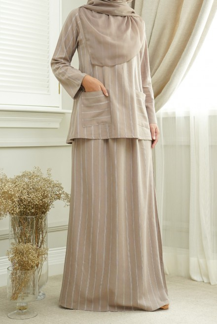 Teja Kurung in Smokey Brown