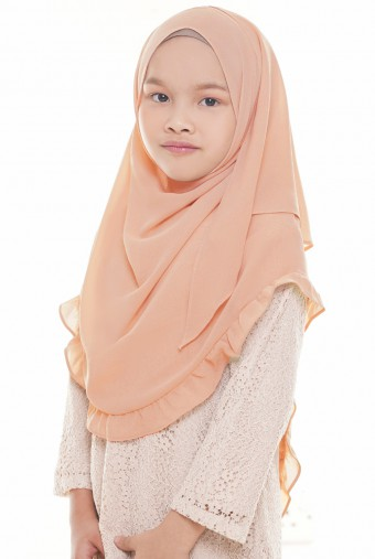 Darda Ruffle Full Instant Kids in Peach
