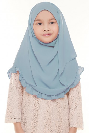 Darda Ruffle Full Instant Kids in Dusty Blue