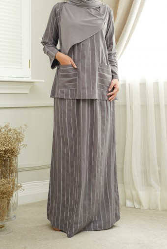 Teja Kurung in Grey