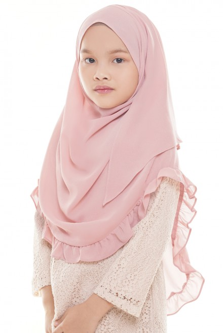 Darda Ruffle Full Instant Kids in Soft Pink