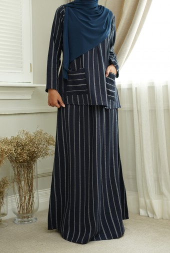 Teja Kurung in Navy Blue