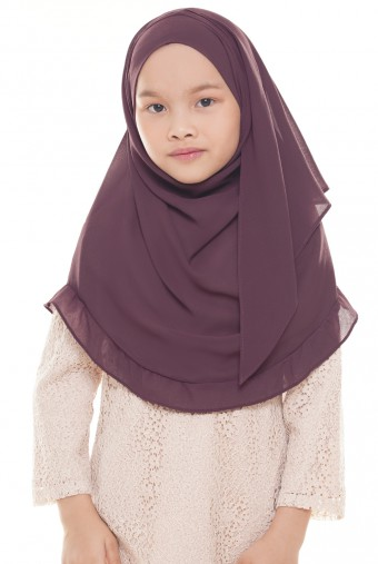 Darda Ruffle Full Instant Kids in Purple Plum