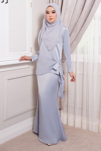 ONDE Kurung in Lilac Purple