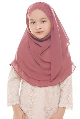 Darda Ruffle Full Instant Kids in Dusty Salmon