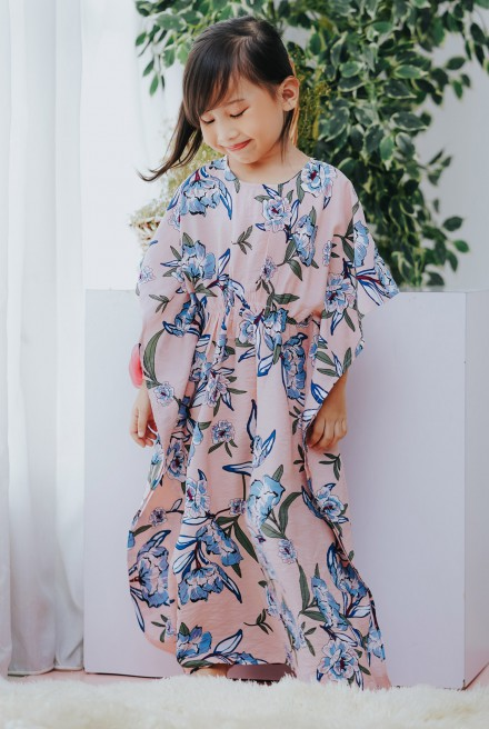 LUNA Kaftan Kids in Peach Floral