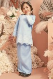 Kunyit Kurung Girl in Pastel Blue
