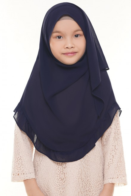 Darda Ruffle Kids in Navy Blue