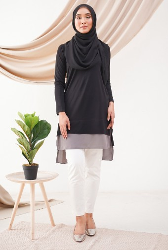 AUBREY Tunic in Black