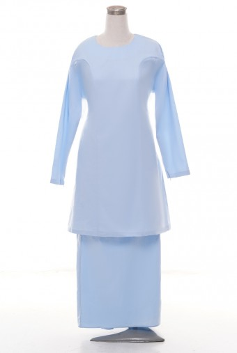 Kunyit Basic Kurung in Pastel Blue