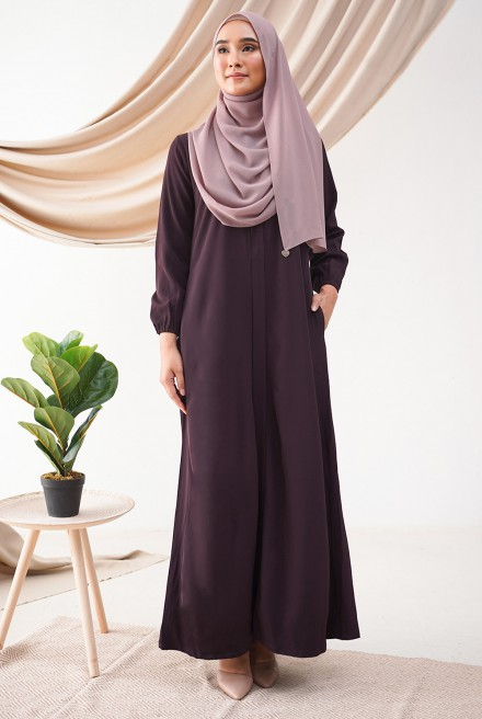 Medina Dress in Boysenberry
