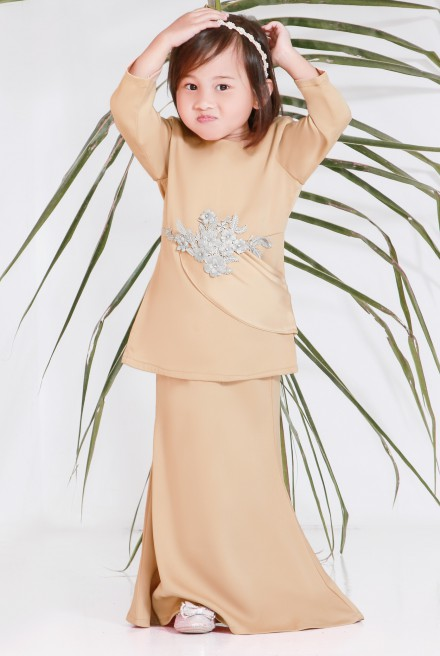 (AS-IS) RENDANG Kurung Kids in Golden Brown
