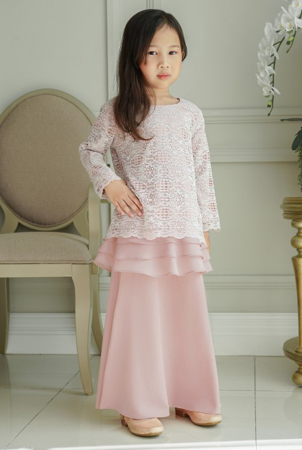 Ketumbar Kurung Girl in Soft Pink