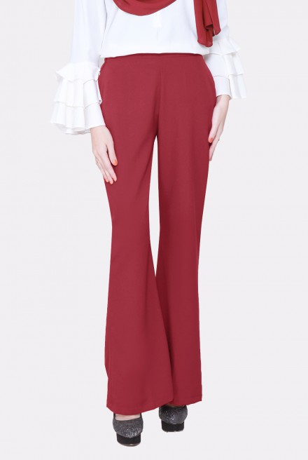 (AS-IS) LYONA Palazzo Pants in Maroon