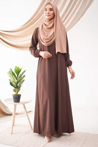 Medina Dress in Hickory