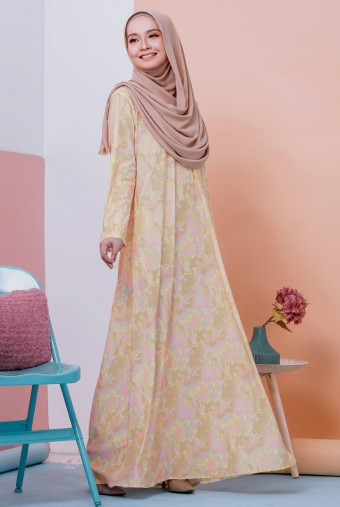 Rifna Dress in Passion Yellow