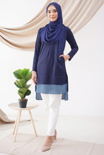 AUBREY Tunic in Navy Blue