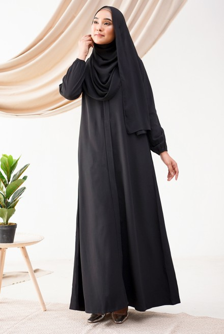 Medina Dress in Ebony