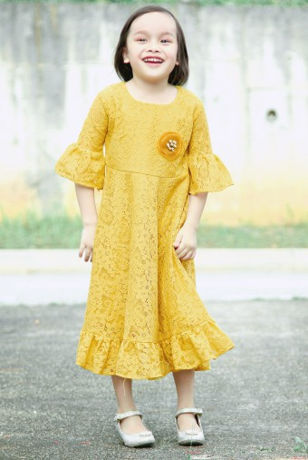 AMIYA Dress in Yellow