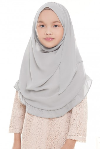 Darda Ruffle Full Instant Kids in Grey
