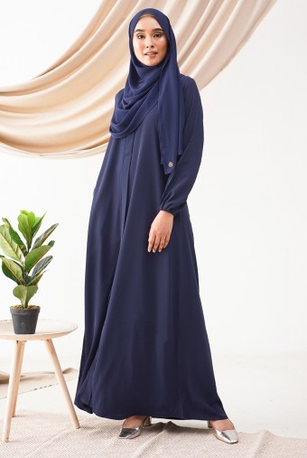 Medina Dress in Midnight
