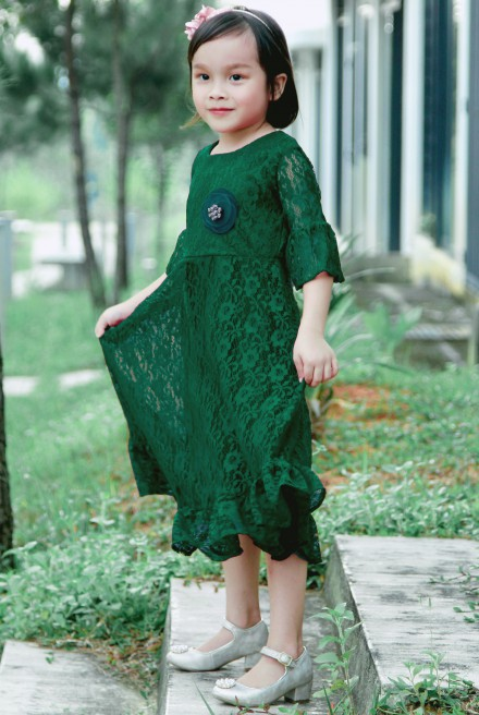 AMIYA Dress in Emerald Green