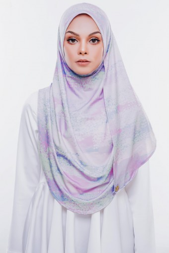RIZQAA Printed  Instant in Pastel Lily