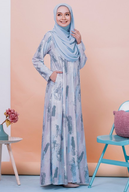 Rifna Dress in Blueberry