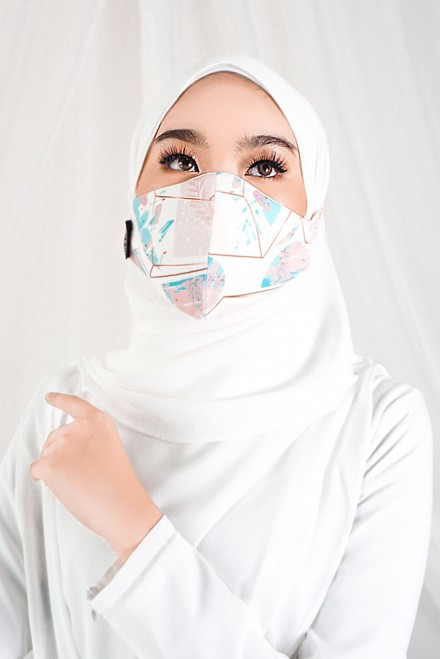 Sara Printed Face Mask In Alana