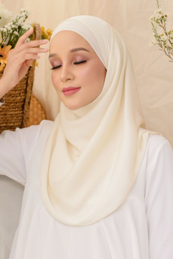 Nour Long Shawl In Cream