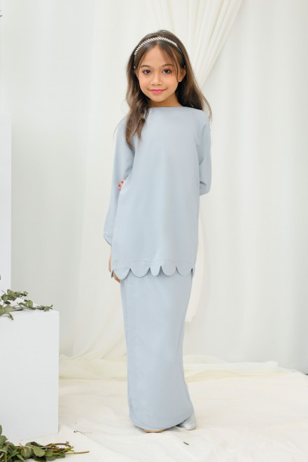 Chantiq Kurung In Baby Blue