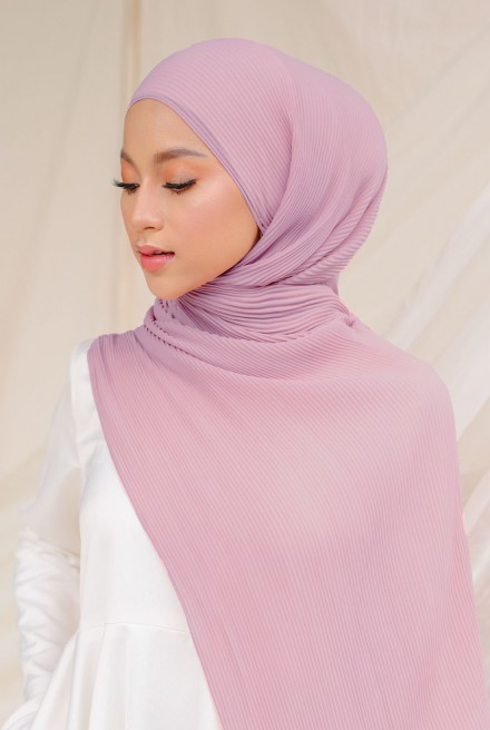 Naeka Full Pleated Shawl in Periwinkle