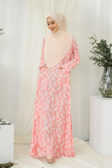 Baju Klawa Printed In Pink Feather