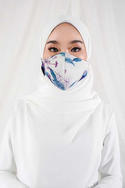 Sara Printed Face Mask In Spring
