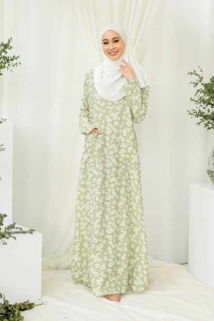 Baju Klawa Printed In Sweet Daisy
