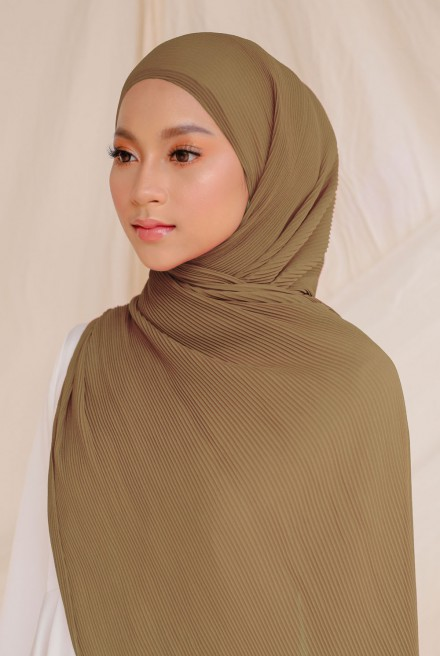 Naeka Full Pleated Shawl in Waffle