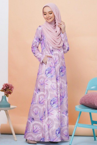 Rifna Dress in Purple Aster