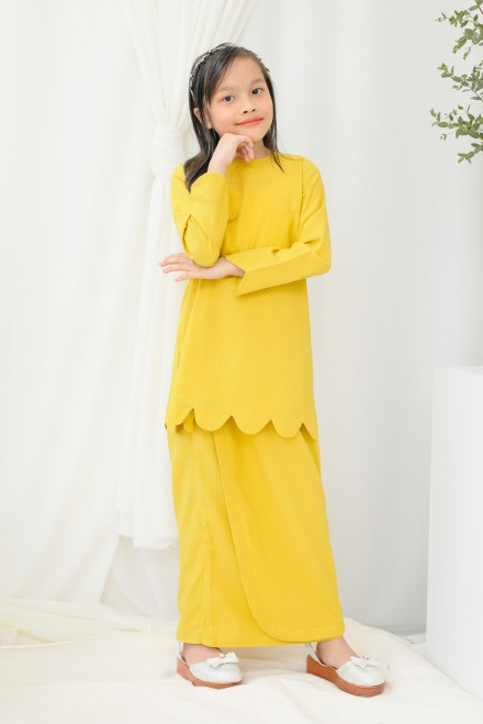 Chantiq Kurung In Yellow