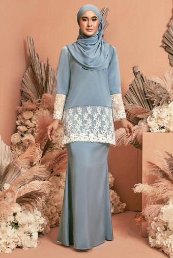 Serai Kurung in Sky Blue