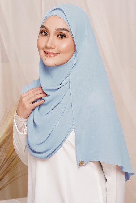 Sadia Long Shawl in Baby Blue