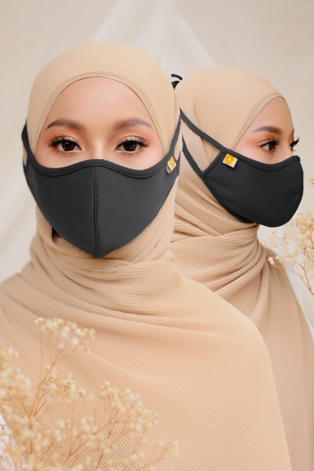 Airy Face Mask in Black (2 pack)