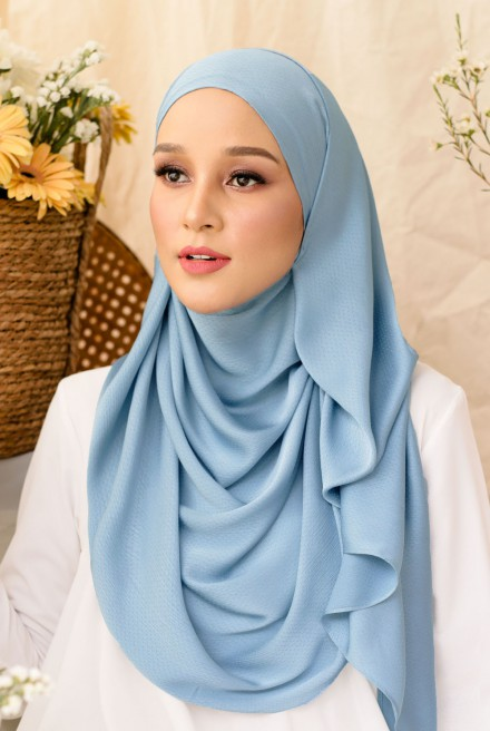 Nour Long Shawl In Blue