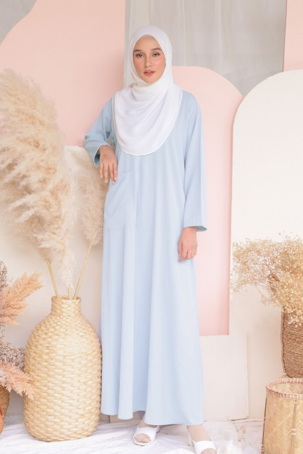 Baju Klawa Basic In Blue Grey