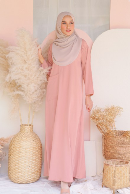 Baju Klawa Basic In Coral