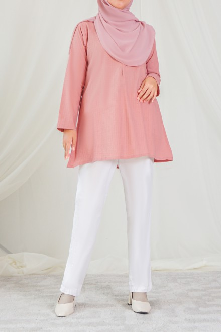 RUMI Blouse in Coral