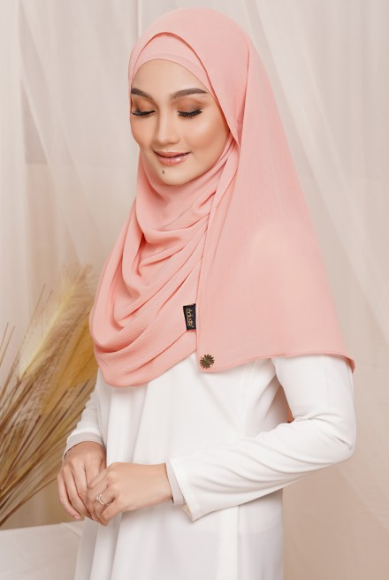 Sadia Long Shawl in Coral