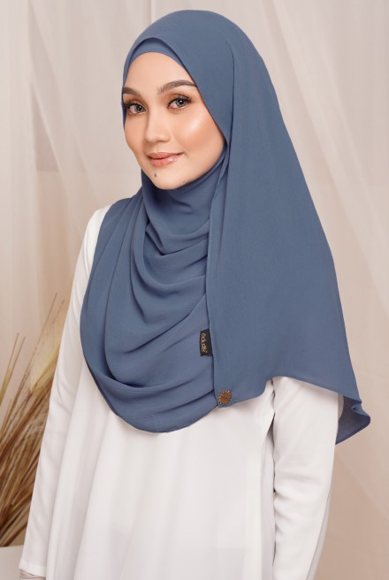 Sadia Long Shawl in Dusty Blue
