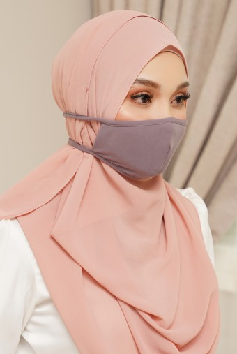 Lora Face Mask in Dusty Purple