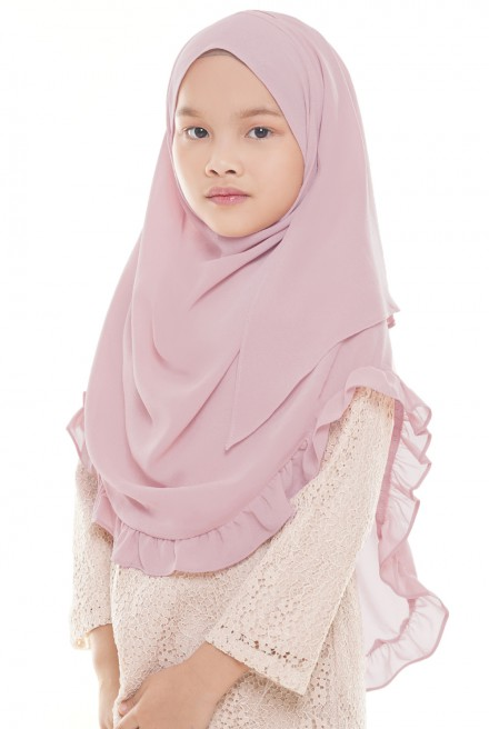 Darda Ruffle Kids in Dusty Pink